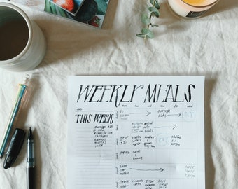 simple printable meal planner - easy weekly meal planning and grocery list