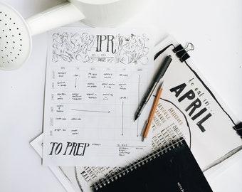 printable seasonal meal planner and grocery list