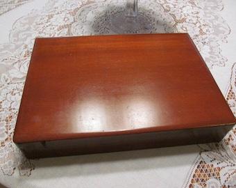 Vintage Wood Flatware Storage Box | Storage Case