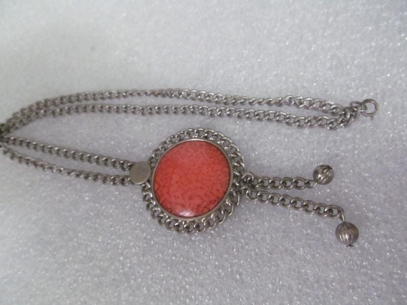 Tassel Costume Jewelry Vintage Celebrity  Necklace Silver Tone