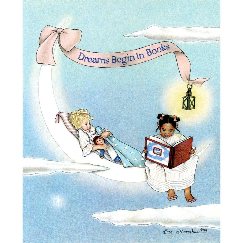 Dreams Begin in Books 8x10 Print image 0
