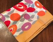 Vintage Scarf French Neck Tie Handkerchief Hankie Pocket Square Silken Polka Dots NOS