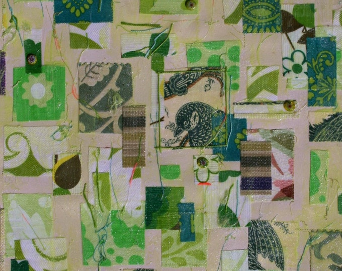 Quilt Fabric/Paint Collage
