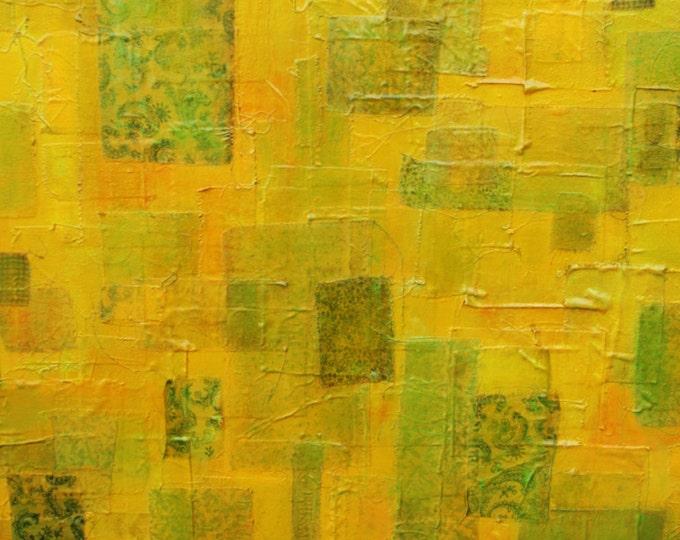 """30"""" x 40"""" Original Oil Painting Quilt Collage"""