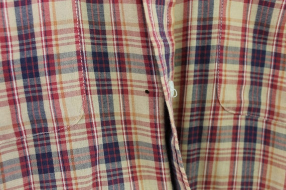 Vintage Button Down men/'s 40 Plaid straight from poopaw/'s closet