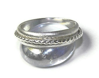 Fidget Ring, Twists and Turns Stacking Spinner Meditation Ring in Sterling Modern Bride and Groom Wedding Ring R103
