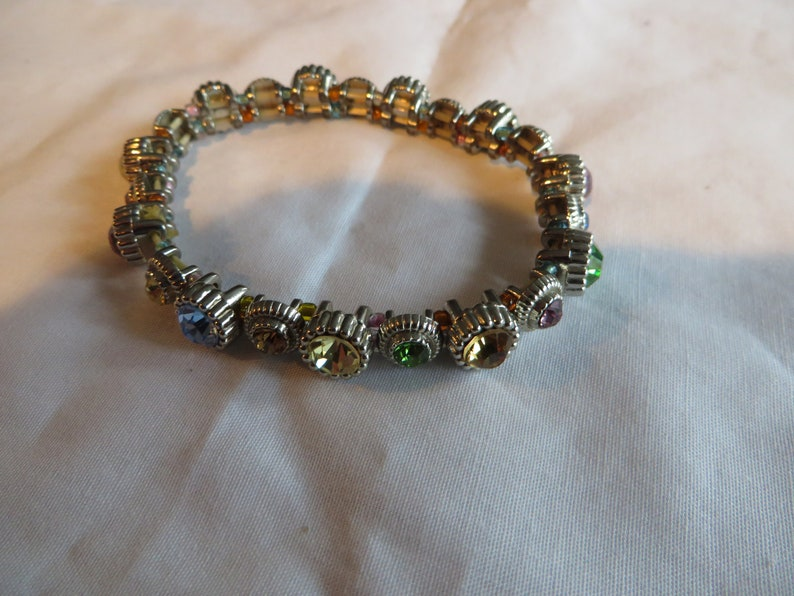 pastels stretch cubic zirconia beaded Bracelets