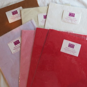 green 12 x 24 Romak red sheets gold silver