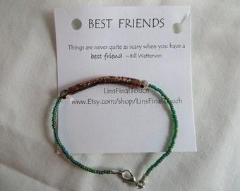 Best Friends Bracelet - Any Size, Bracelet, Anklet, Best Friends, Friends