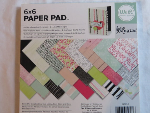 "Fancy Pants Designs Single-sided Paper Pad 6/""x6/"" 36//pkg-take Note 18 Designs//2"