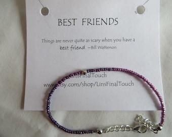 Best Friends Bracelet - Any Size, Bracelet, Anklet, Best Friends