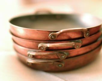 Vintage Individual Serving Copper Pan