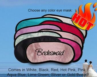 Bridesmaid Custom Made Embroidered Eye Mask - favorite on pinterest tumblr instagram polyvore