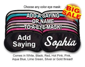Custom Made Embroidered Eye Mask - SALE - favorite on pinterest tumblr instagram polyvore