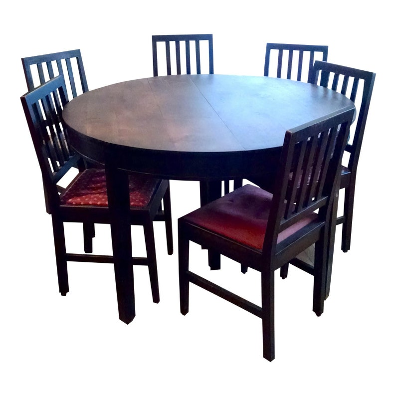 Outstanding Ca 1910 20 Gustav Stickley Dining Table And Chairs Alphanode Cool Chair Designs And Ideas Alphanodeonline