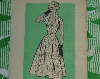 Vintage Mail Order Pattern No. 9264 c.1950's Dress Size 14 Uncut