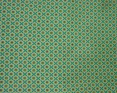 RESERVED for Retro-A-Nice Vintage Feedsack Fabric 28 x 37 quot Small Print Green Geometric