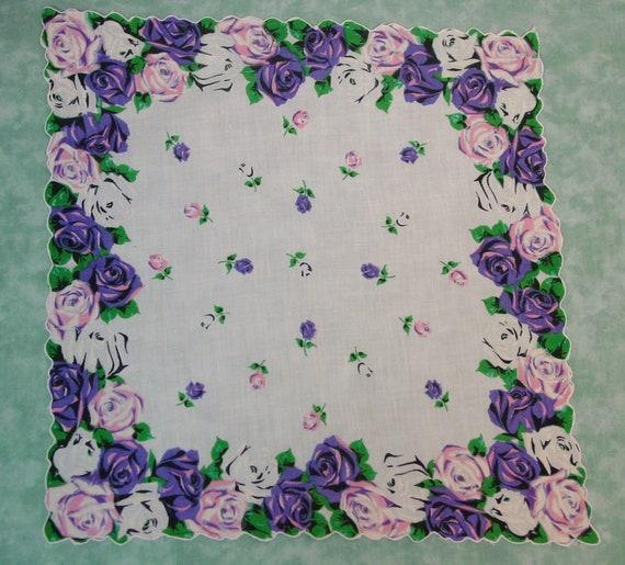 Lovely vintage linen hanky handkerchief blue crochet butterfly lovely gift MOM   FREE SHIP