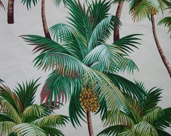 Super Barkcloth Fabric Palm Trees, Vibrant Color Trendtex c.2001 2 Yards Available