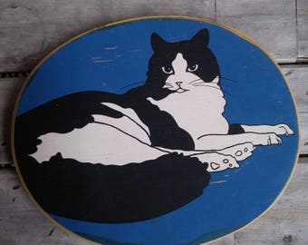 Vintage Modern Cats 3 piece Wall Art