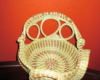 Gullah Sweetgrass Looped Stand Basket