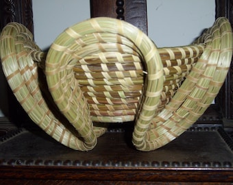 Charleston Sweetgrass Gullah Stand Basket