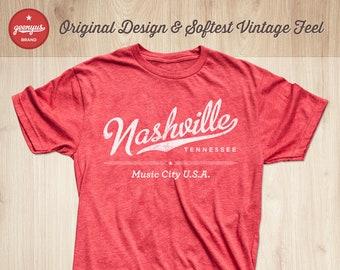 7bdd7aeb Nashville Shirt | Nashville T-Shirt | Nashville Music City Shirt |  Nashville Gifts by Geenyus Brand