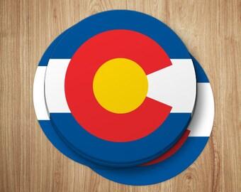 Colorado Sticker | Colorado Decal | Colorado Gifts | Colorado Flag Sticker | Colorado Laptop Sticker