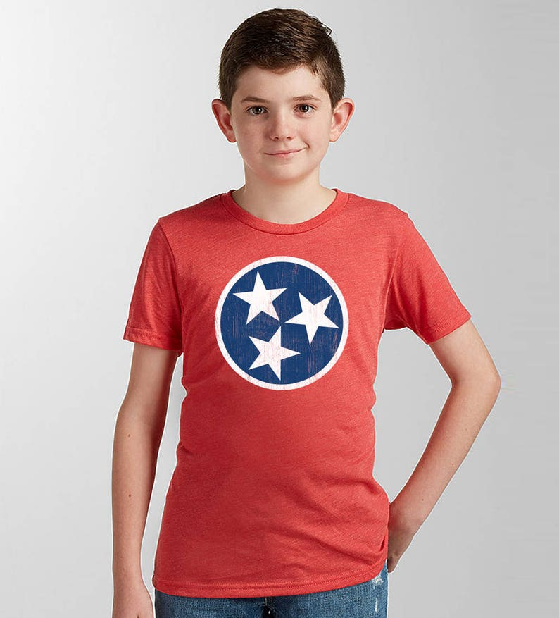 5145b7ce Kids Tennessee Shirt   Tennessee Tristar Flag Shirt Kids or Toddler    Tennessee Kids Gifts