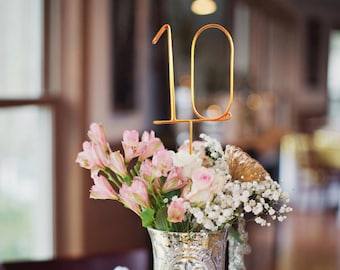 Wire Table Numbers - Rustic Wedding Table Numbers - Reception Table Numbers - Wedding Table Numbers - Wedding Decor - Reception Decor
