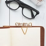 Wire Name Planner Clip - Personalized Planner Marker - Page Marker - Custom Paper Clip - Book Marker - Planner Accessories - Binder Clip
