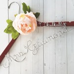 Bride Hanger Date Pink Peony Flowers First and Last Name Personalized Hanger Custom Hanger Bridal Hanger Bride Bridal Shower Gift Bridesmaid