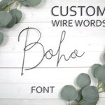 Custom Wire Words Boho Font Personalized Wall Phrase Quote Lyrics House Warming Gift Metal Bespoke Art Rose Gold Copper Gallery Anniversary