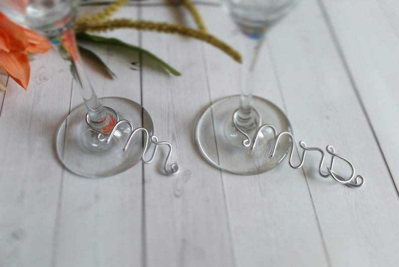 Wire Wine Charms  Rustic Wine Charms  Personalized Wine image 0