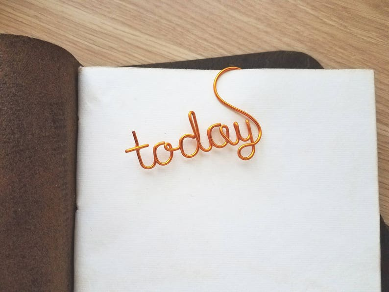 Wire Today Planner Clip  Personalized Planner Marker  Page image 0
