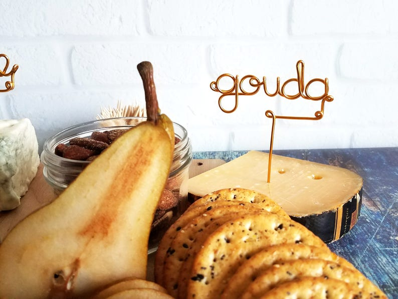 Wire Cheese Markers  Rustic Cheese Marker  Wine and Cheese  image 0