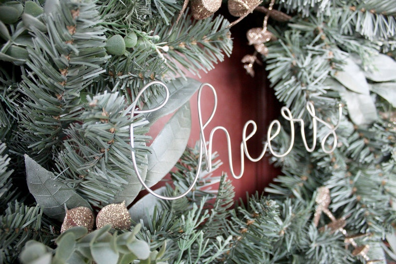 Cheers Wire Words Only for Wreath Wall Home Rustic Farmhouse image 0