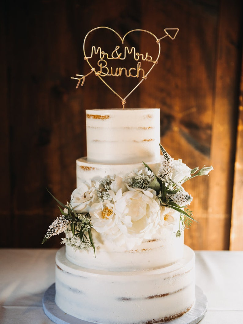Country Chic Wedding Cake Toppers