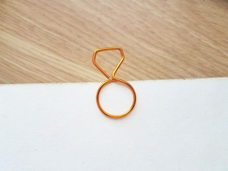 Wire Ring Planner Clip  Personalized Planner Marker  Page image 0