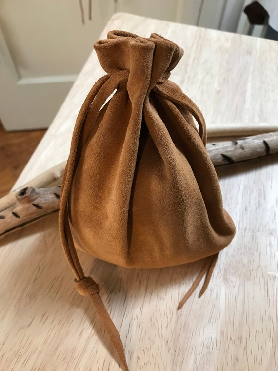 Suede Drawstring Pouch Leather Drawstring Pouch Bag Pouch  34b5488c4