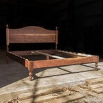"ARCHED HEADBOARD LIBBY  |  Platform Bed Frame  |  Walnut Hardwoods  |  Turned Legs With Acorn Tops  |  22"" Headboard  