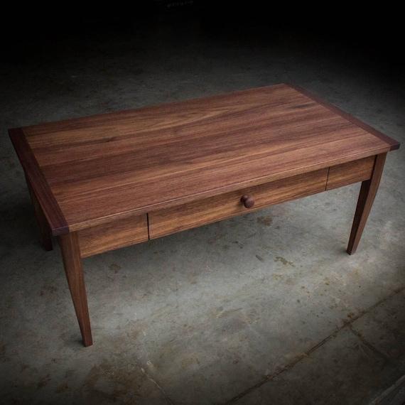 Solid Walnut Coffee Table: WALNUT COFFEE TABLE Solid Walnut Shaker-Inspired Hardwood