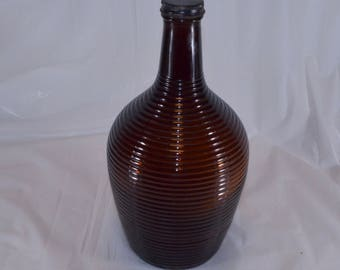 Brown Beehive Glass Jug Owens-Illinois 1940-50