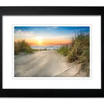 Wildwood Sunrise Framed Limited Edition Seascape Photography, Hereford Inlet New Jersey Beach Wall Art comes Ready to Hang