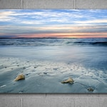 Vivid Metal Print, Sunrise at the Beach, 30x45 inches, Ready to Hang Art