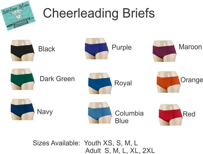Cheerleading Uniform Accessories. Briefs  Bloomers