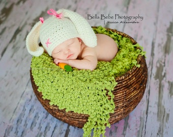 Happy Baby Bunny Hat  - Made to Order
