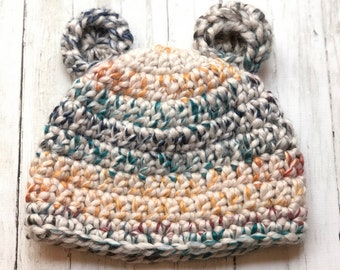 Baby Bear Hat, Size 3-6 months, Ready-to-Ship