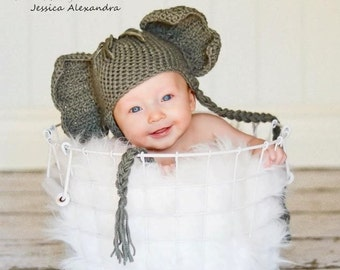 Happy Baby Elephant Hat - Made to Order, photography prop