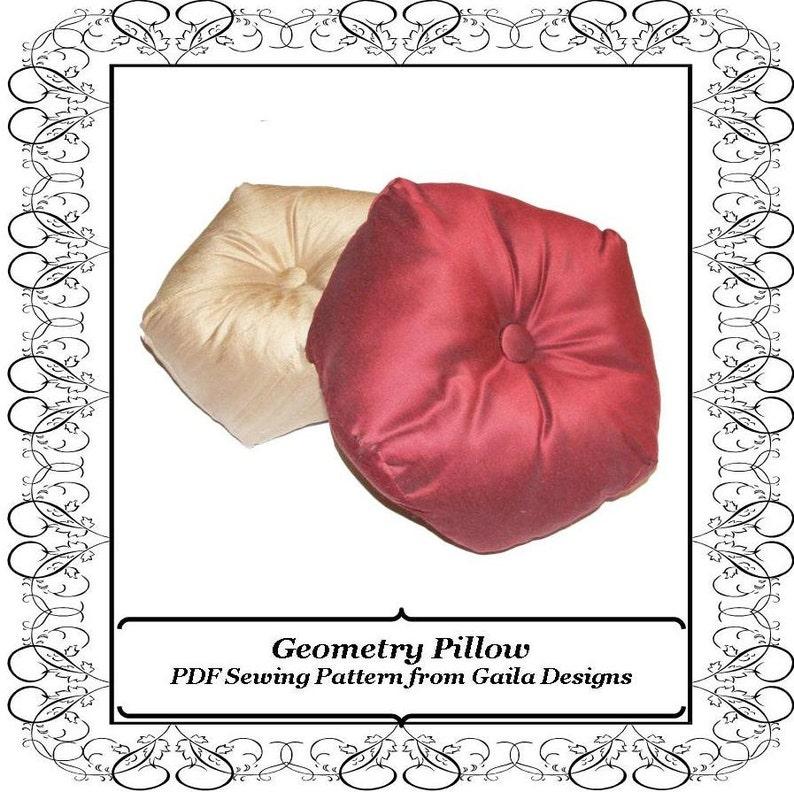 Geometry Pillow PDF Sewing Pattern DIY home decor image 0